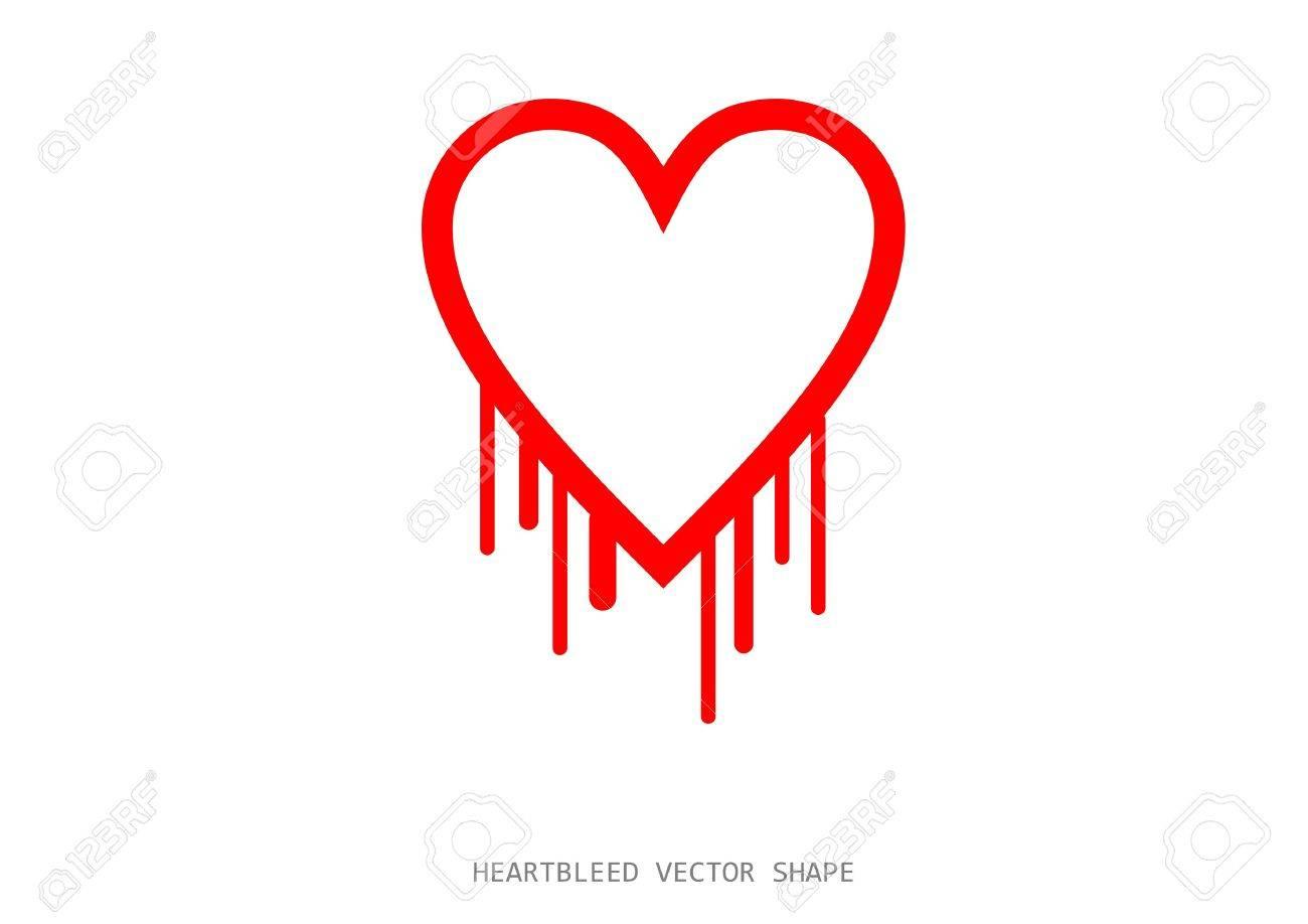 Clean heartbleed openssl bug vector shape red bleeding heart clean heartbleed openssl bug vector shape red bleeding heart on white background stock vector buycottarizona