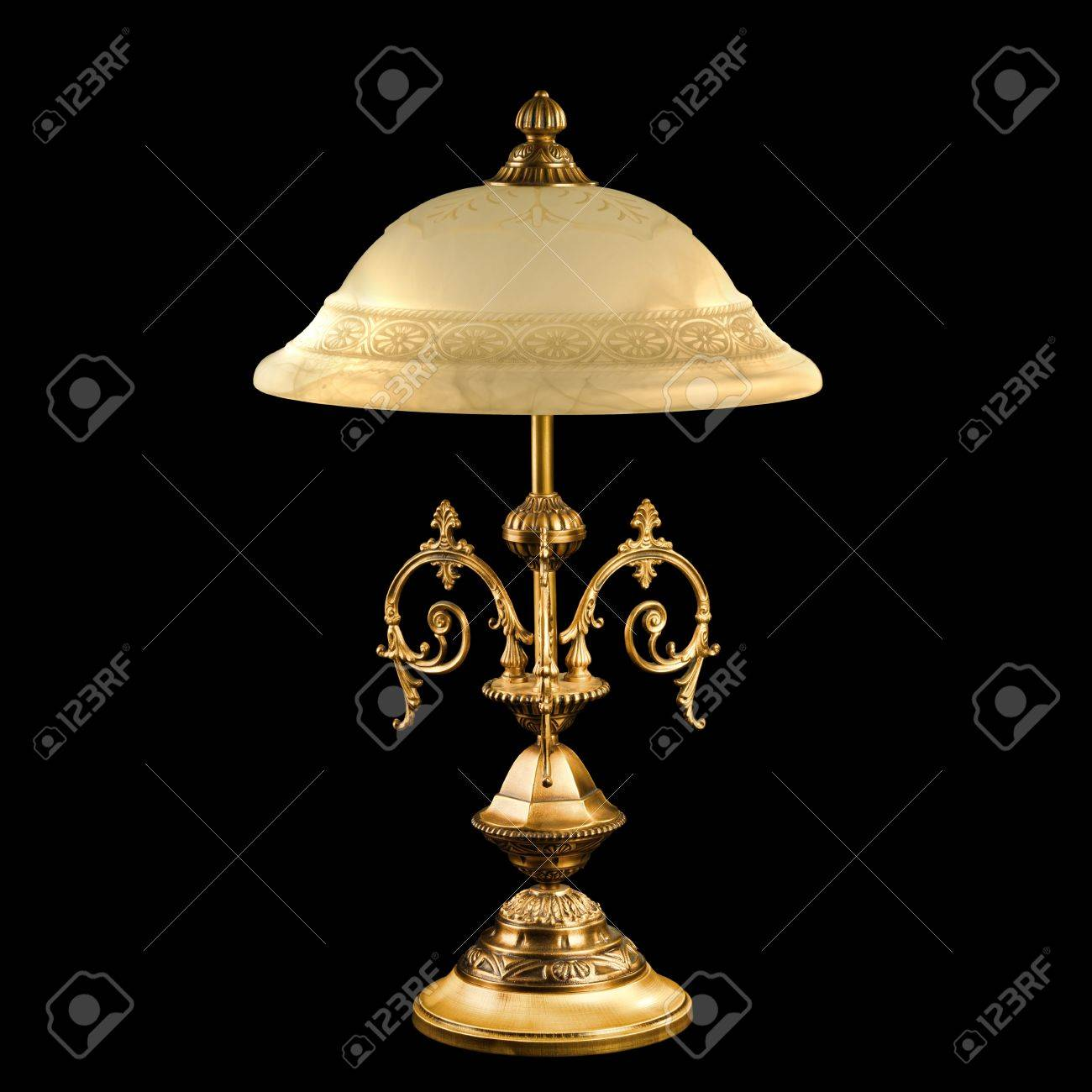 vintage table lamp isolated on black Stock Photo - 9822242