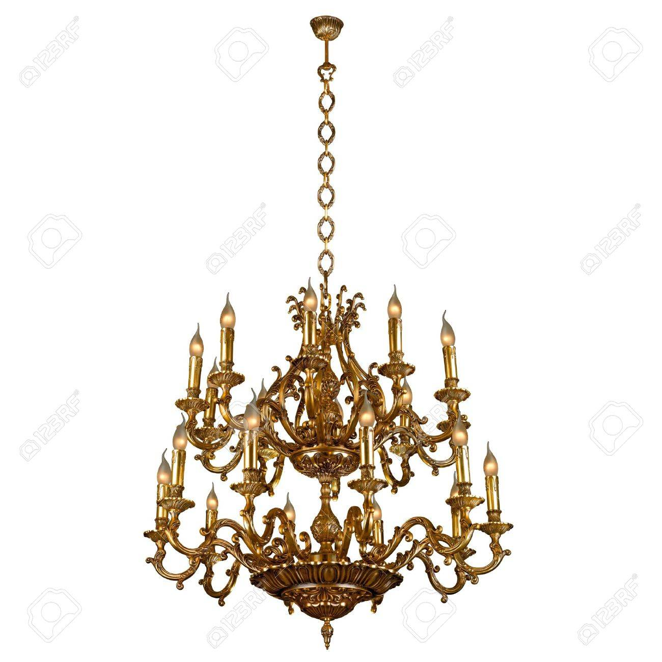 Vintage chandelier isolated on white stock photo picture and stock photo vintage chandelier isolated on white aloadofball Images