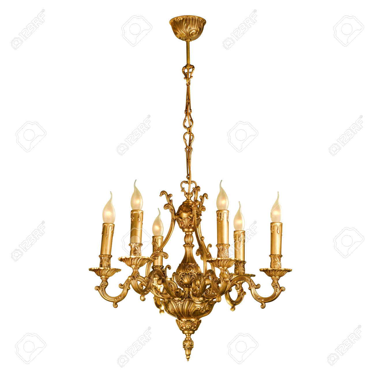 Vintage chandelier isolated on white background with clipping stock photo vintage chandelier isolated on white background with clipping path aloadofball Images