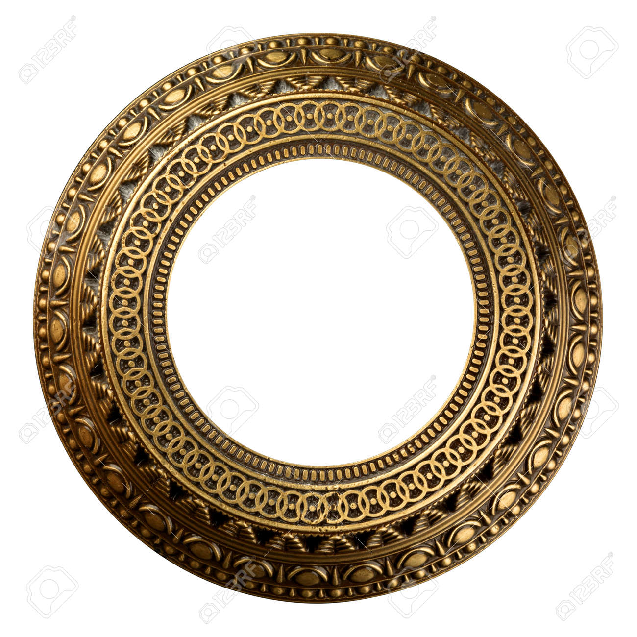 stock photo vintage gold ornate frame on white