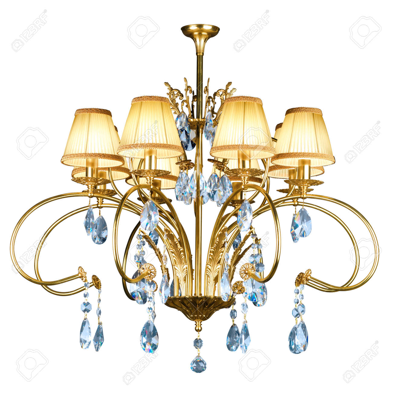Vintage chandelier isolated on white background with clipping path Stock Photo - 14945864