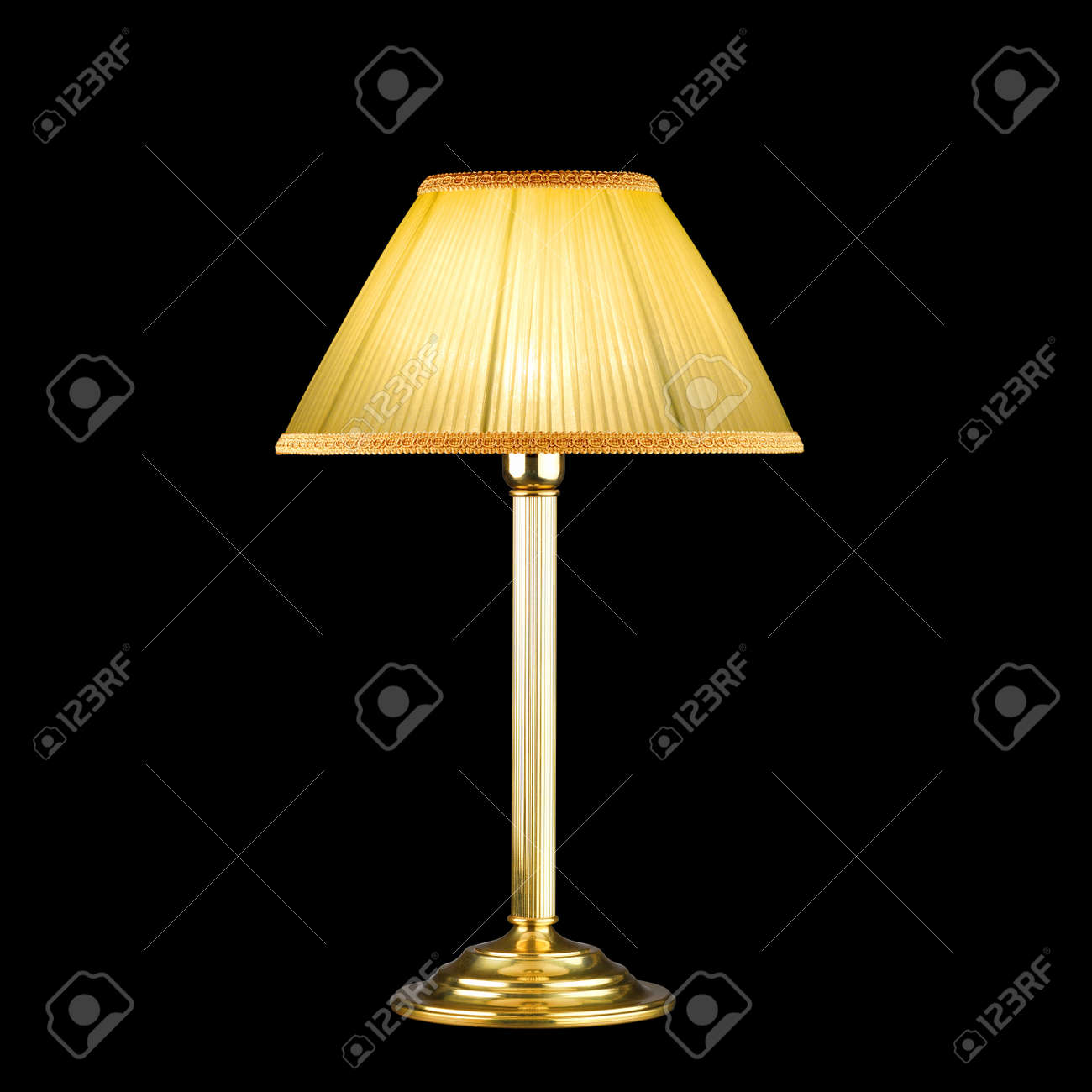 vintage table lamp isolated on black Stock Photo - 14945498
