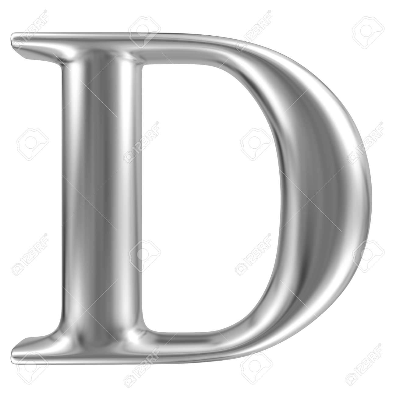 Aluminium Font Letter D Stock Photo, Picture And Royalty Free