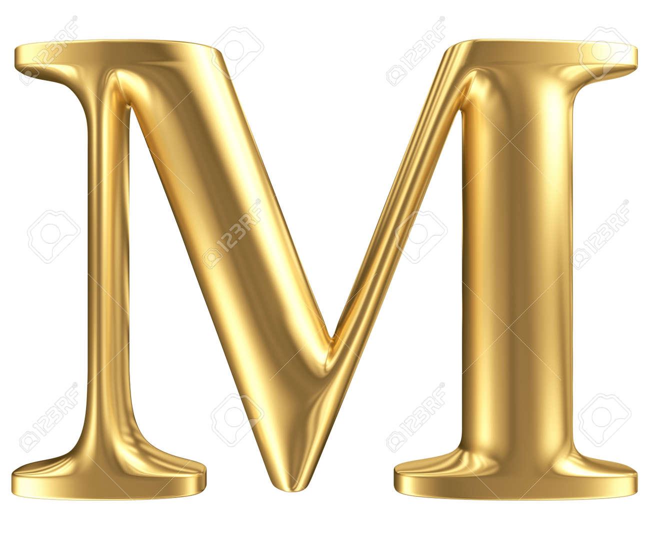 servicio duradero fina artesanía precio loco Mate de oro letra M, colección de la fuente de la joyería