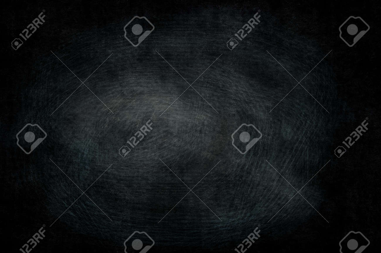 Abstract Blank Chalkboard For Black Background Texture Concept