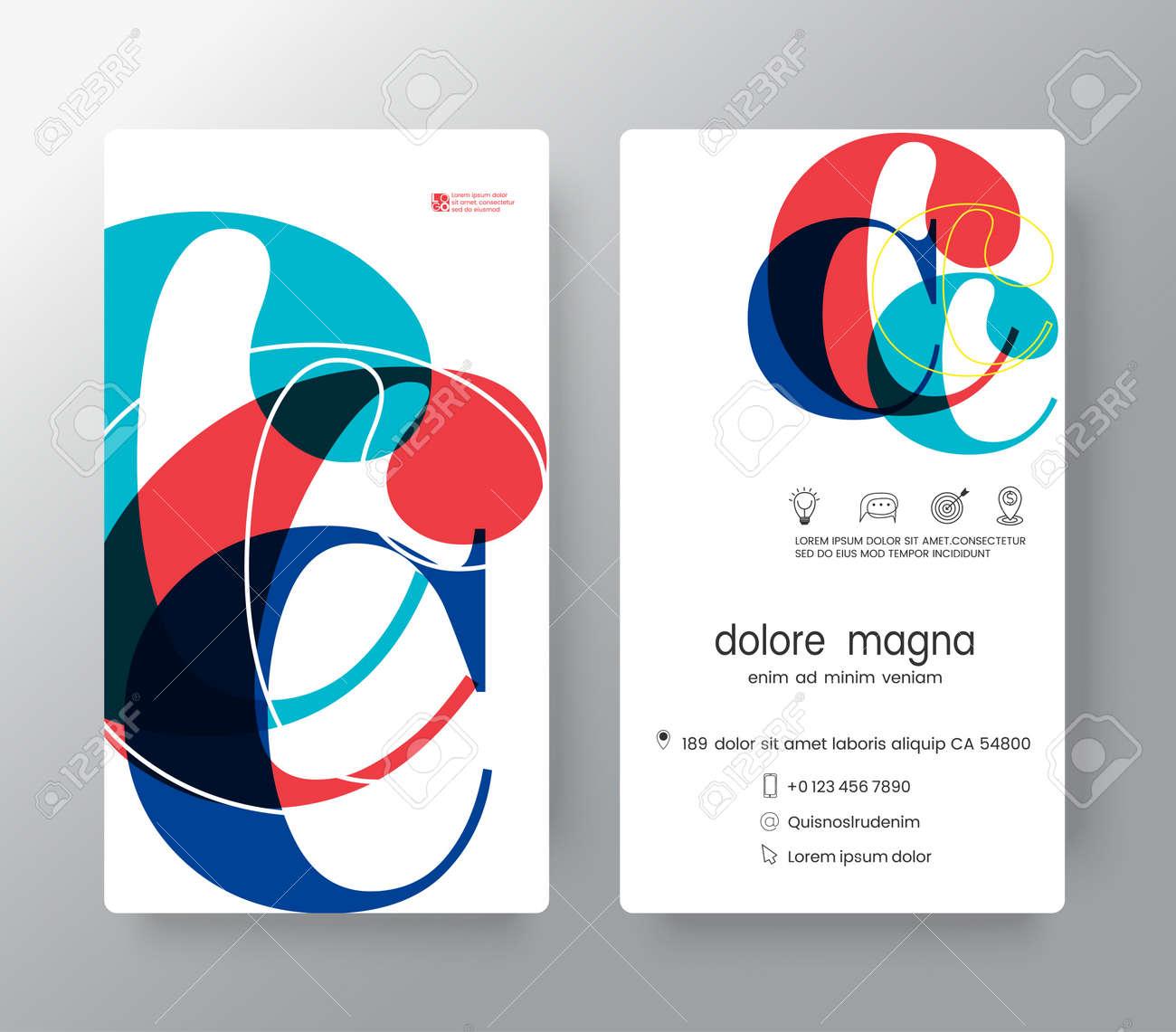 Letra C Plantilla De Diseño De Tarjeta De Visita. Elementos De ...