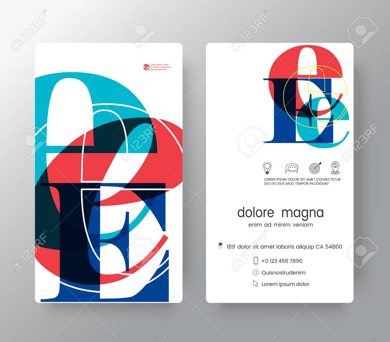 Letter E Business Card Design Template. Vector Graphic Design ...