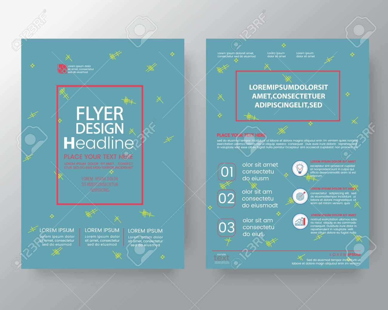 memphis art background for corporate identity brochure annual