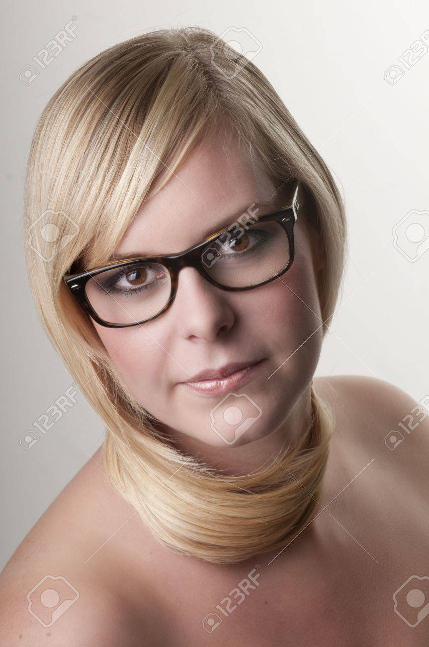 Beauty portrait of a young woman with her hair around neck. Stock Photo - 5909309