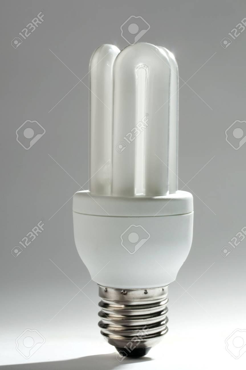 an energy saving  light bulb against a white background Stock Photo - 5951905