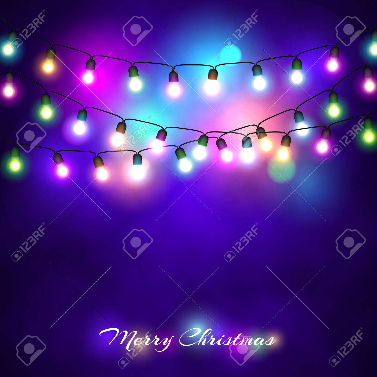 Christmas Lights Festive Decorations Glowing New Year S Neon