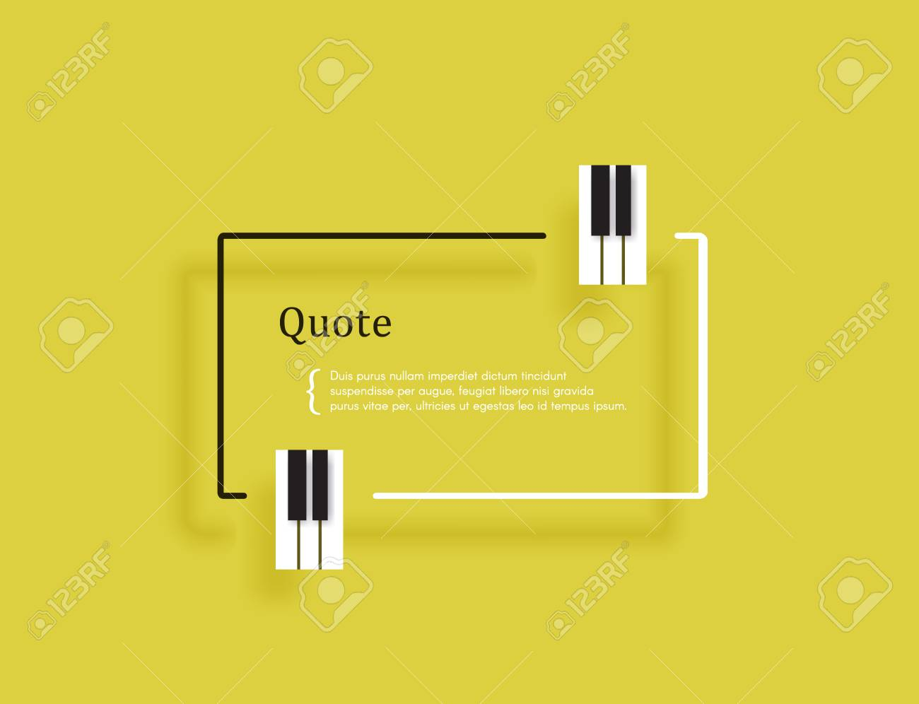 Musical Quote In A Frame Creative Quotation In The Form Of Piano