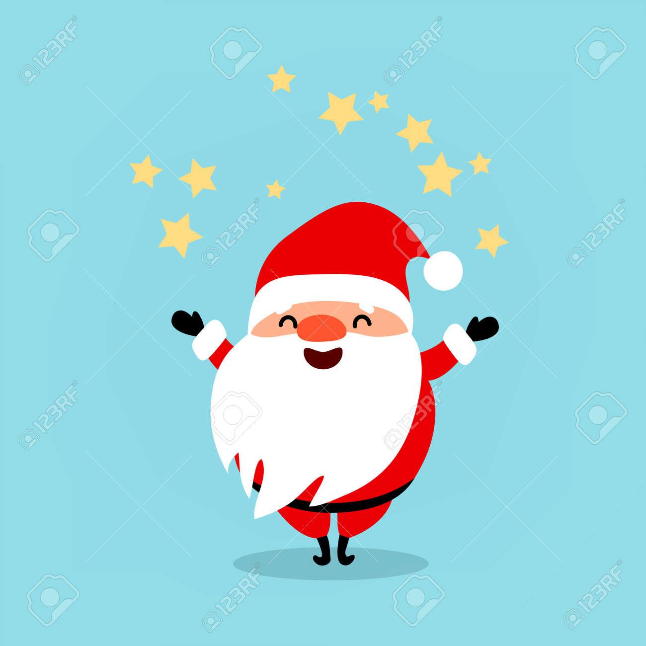Funny Santa Claus / Vector Christmas Illustration, Sign Thumbs.. Royalty Free  Cliparts, Vectors, And Stock Illustration. Image 87427988.