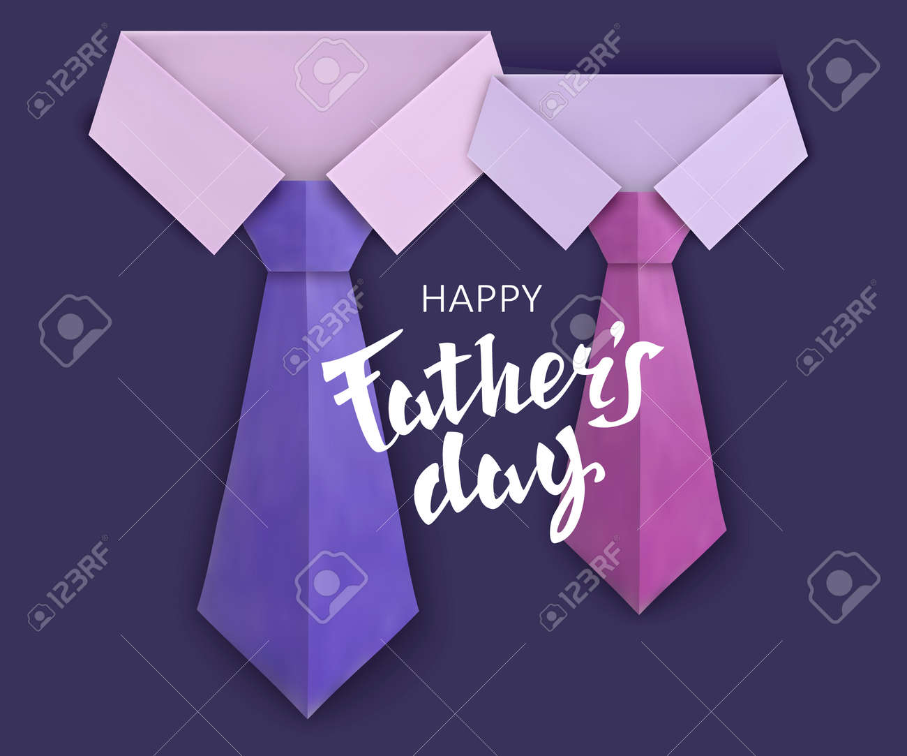 fathers day greeting card template celebratory background with