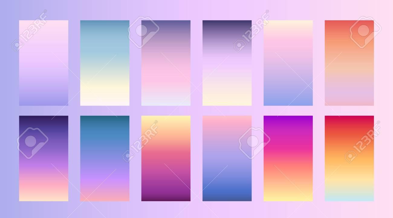 Soft color background Trendy screen vector design for landing page, smartphone, mobile app Soft multicolor gradients Modern palette - 101116979