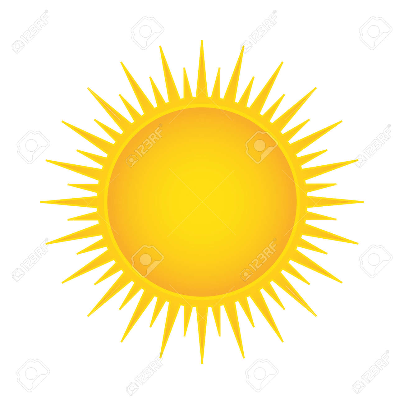 sun vector illustration isolated royalty free cliparts vectors and rh 123rf com sun vector png sun vector art
