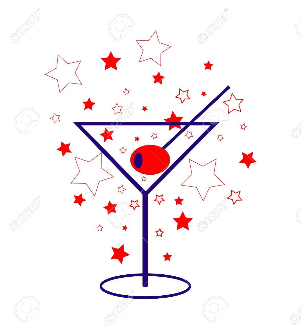 Patriotic Martini Stock Vector - 7821314