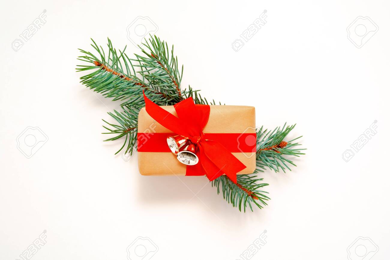 Christmas Ribbon 2021 2021 Happy New Year Merry Christmas Decorations Flatlay Banner Stock Photo Picture And Royalty Free Image Image 156755375