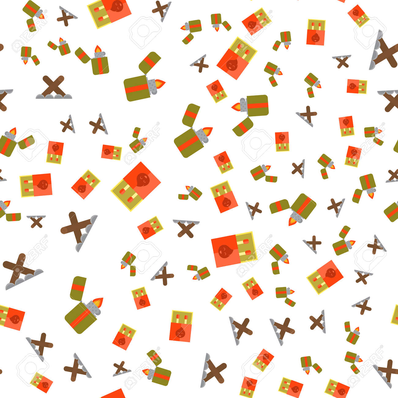 Seamless Pattern Of Camping Gear Elements Can Be Used For Wallpaper Royalty Free Cliparts Vectors And Stock Illustration Image 77738756