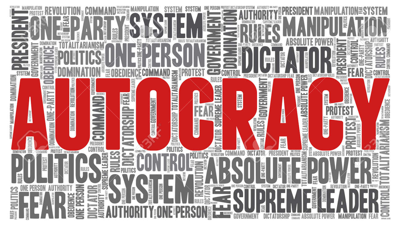 Autocracy word cloud isolated on a white background. - 153735528