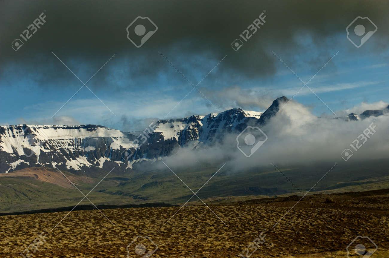 Snowy peaks of Iceland Stock Photo - 17486157