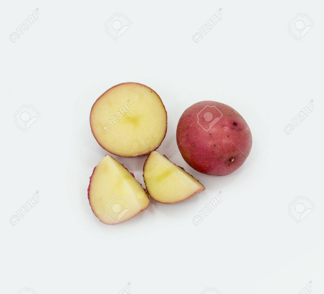 Red Skin White Flesh Potatoes Stock Photo - 17486880