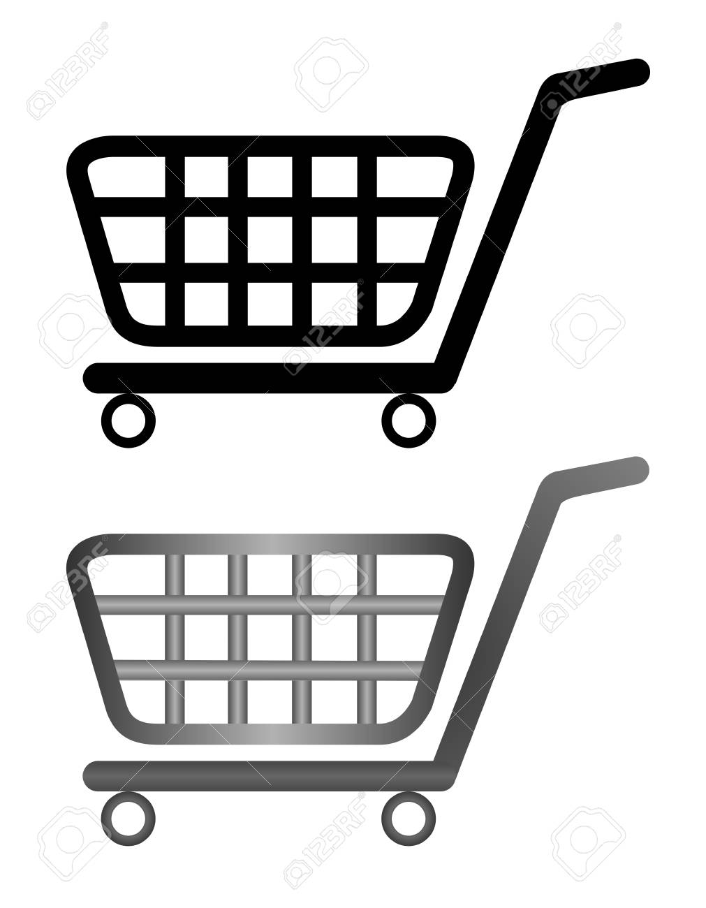 illustration of shopping cart isolated on white background Stock Vector - 6582216