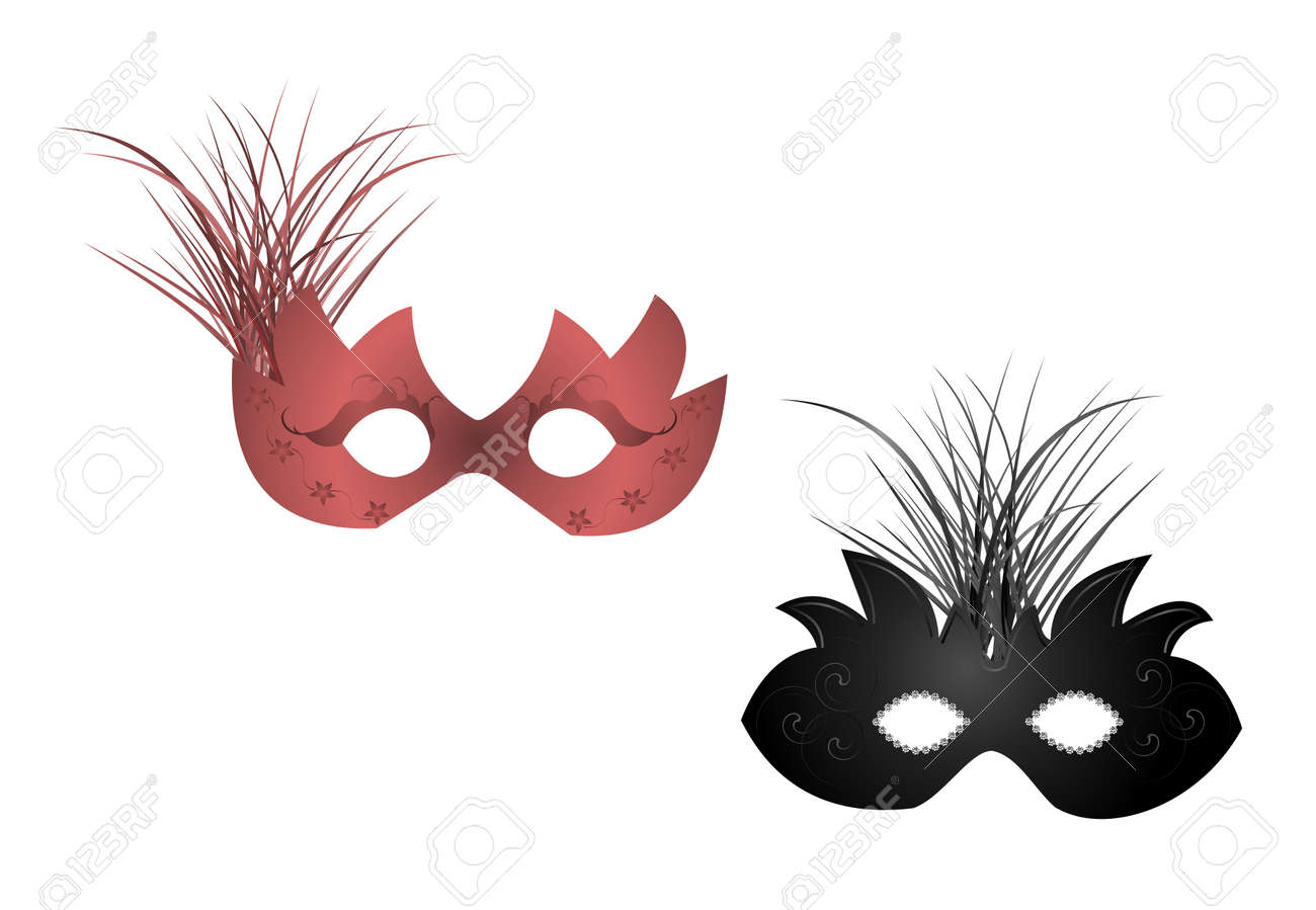 Realistic illustration of carnival or theater masks Stock Vector - 6582256