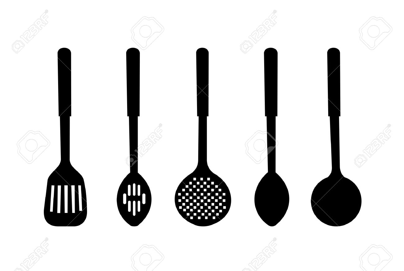 Kitchen Utensils Silhouette Vector Free 83,322 kitchen utensils stock illustrations, cliparts and royalty