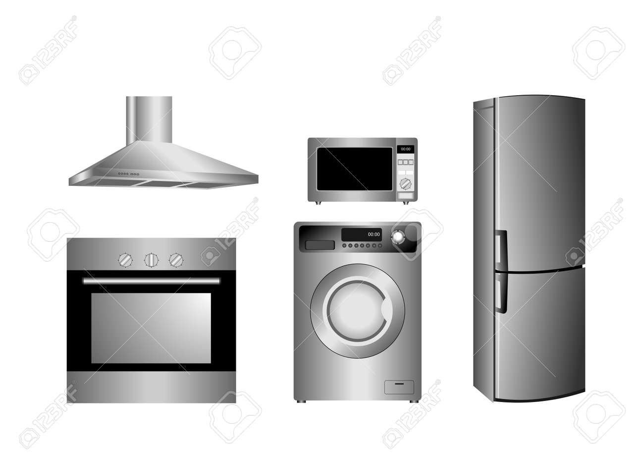 detailed household appliances icons Stock Vector - 6647592