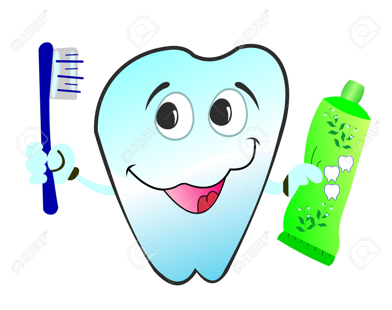 illustration of  happy smiling tooth is isolated on white background Stock Vector - 6647446