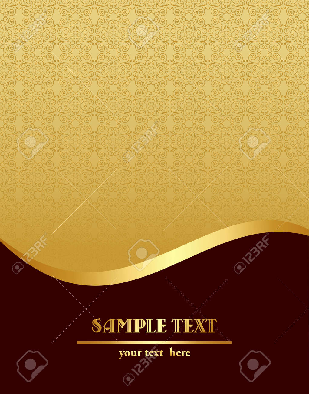 illustration of gold royal vintage template royalty cliparts vector illustration of gold royal vintage template