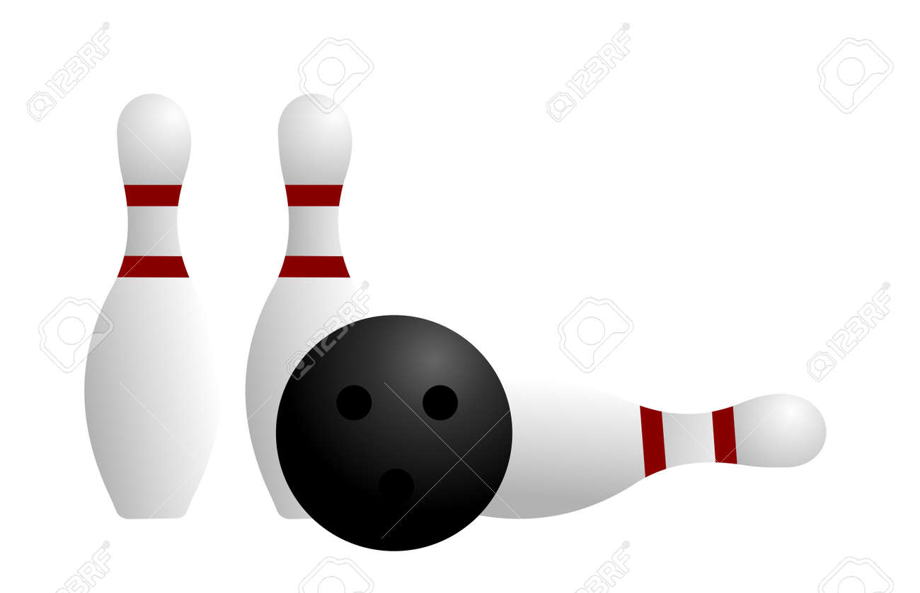 Realistic illustration ball and pin of bowling Stock Vector - 6778558