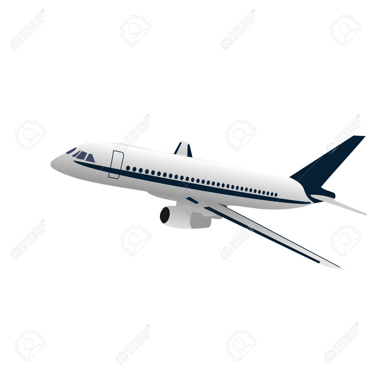 Realisic illustration airplane Stock Vector - 6778551