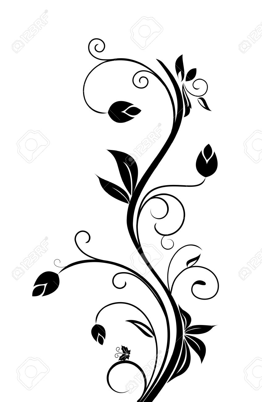 Floral Background For Design Holiday Card Royalty Free Cliparts