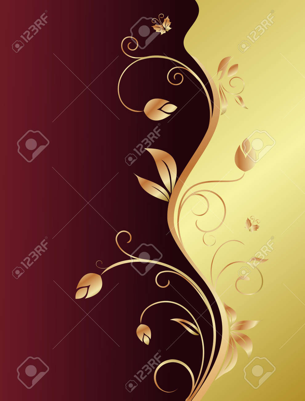 Floral background for design holiday card Stock Vector - 7589694