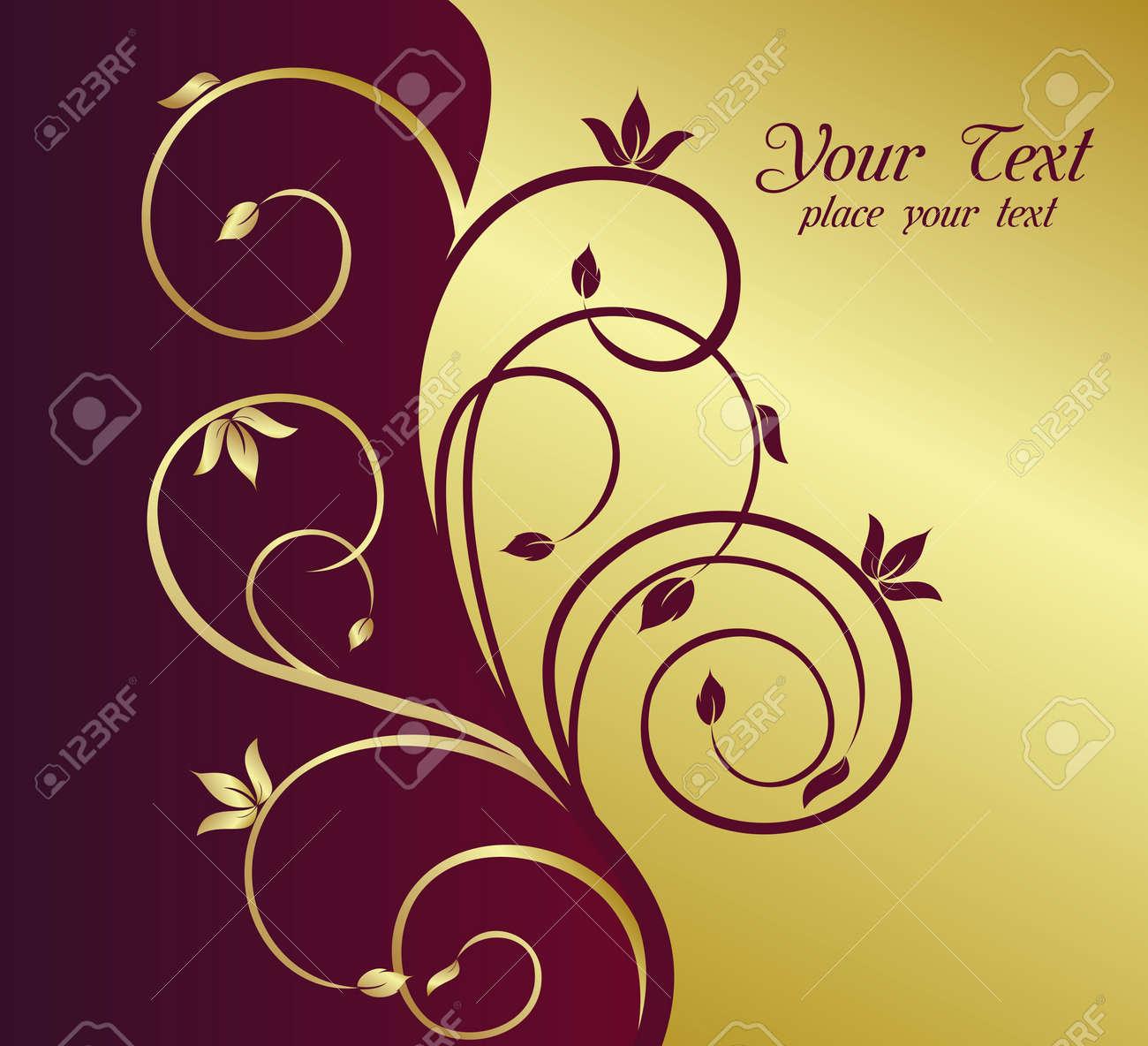 Illustration floral background card for design Stock Vector - 7589443
