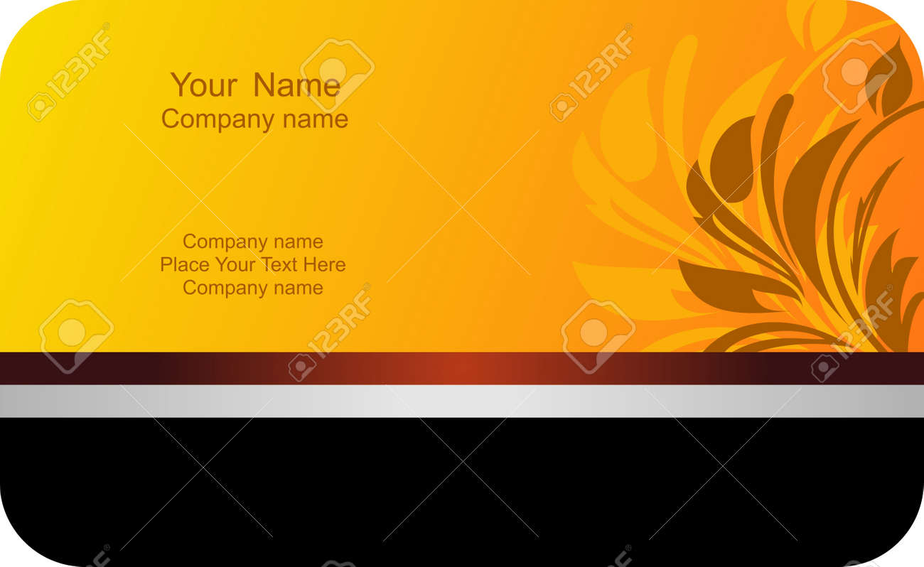 Illustration of template card company label with name Stock Vector - 7589257