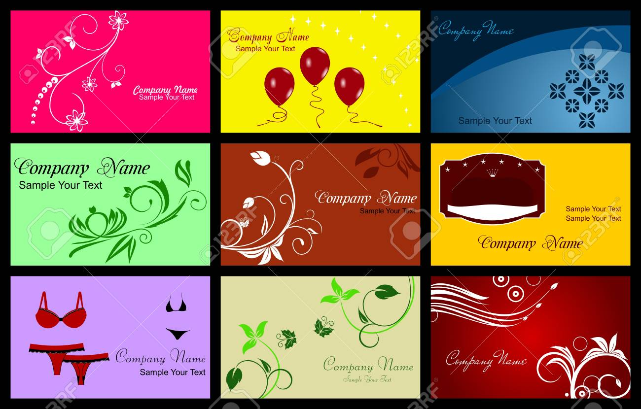 Illustration of Various Business Card Stock Vector - 7589783