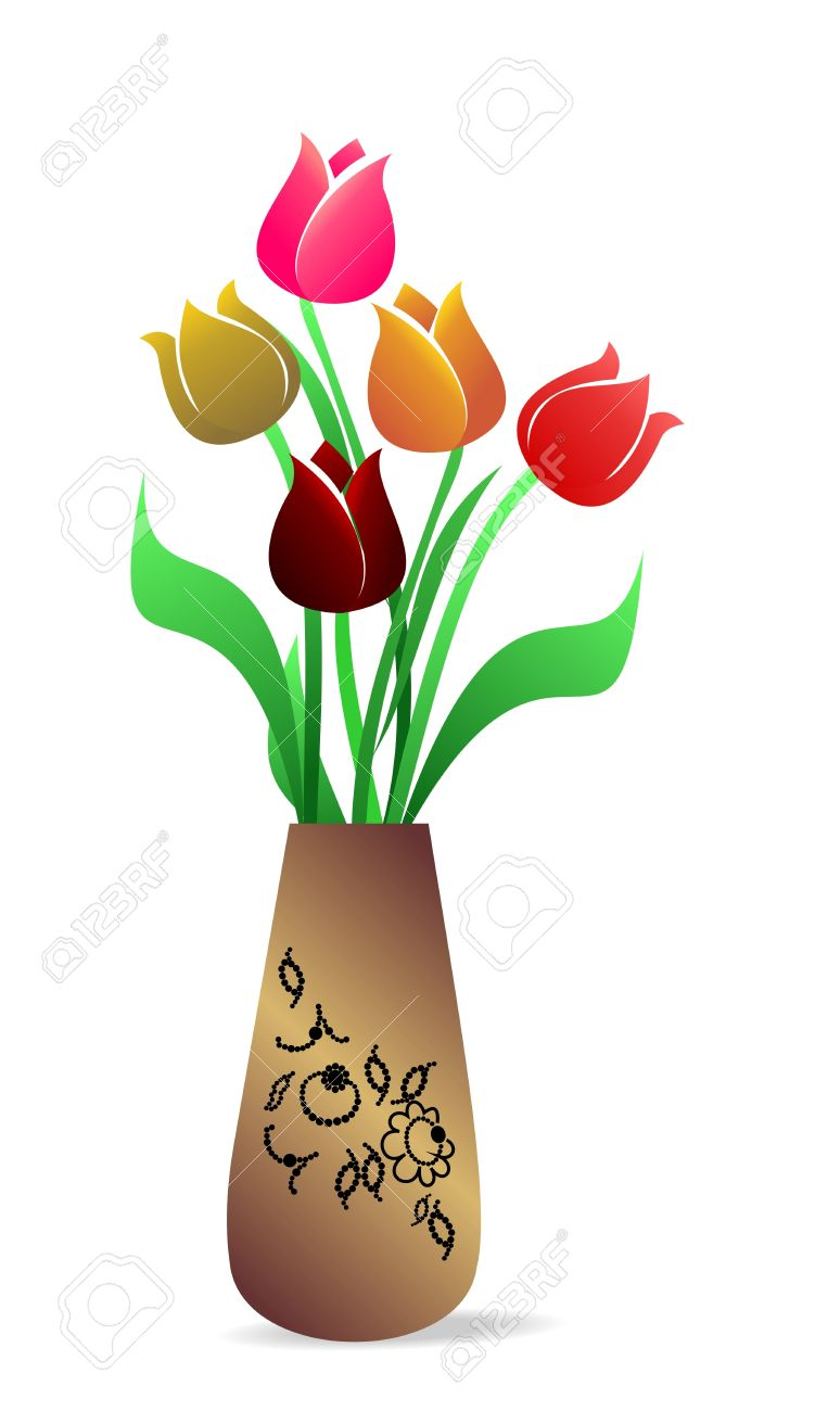 Illustration of beautiful vase with tulips royalty free cliparts illustration of beautiful vase with tulips stock vector 7589428 floridaeventfo Gallery