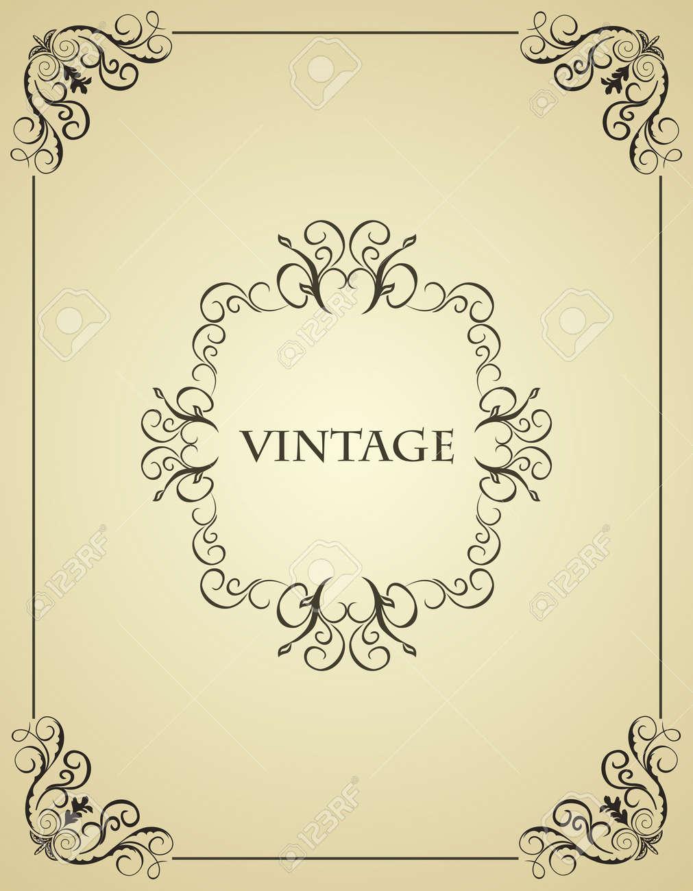 Illustration vintage background card for design Stock Vector - 7589658