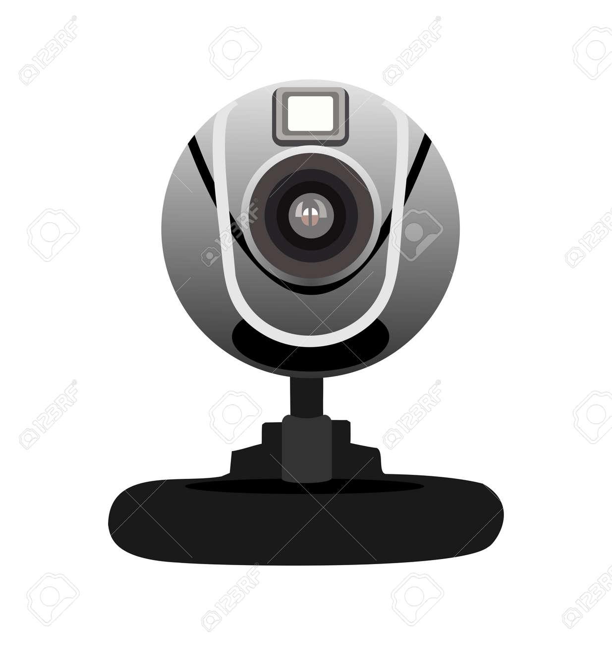 web カメラの現実的なイラスト ロイヤリティフリークリップアート
