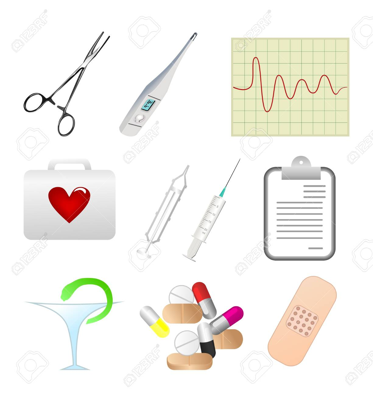 Collection of medical themed icons. Stock Vector - 7851960