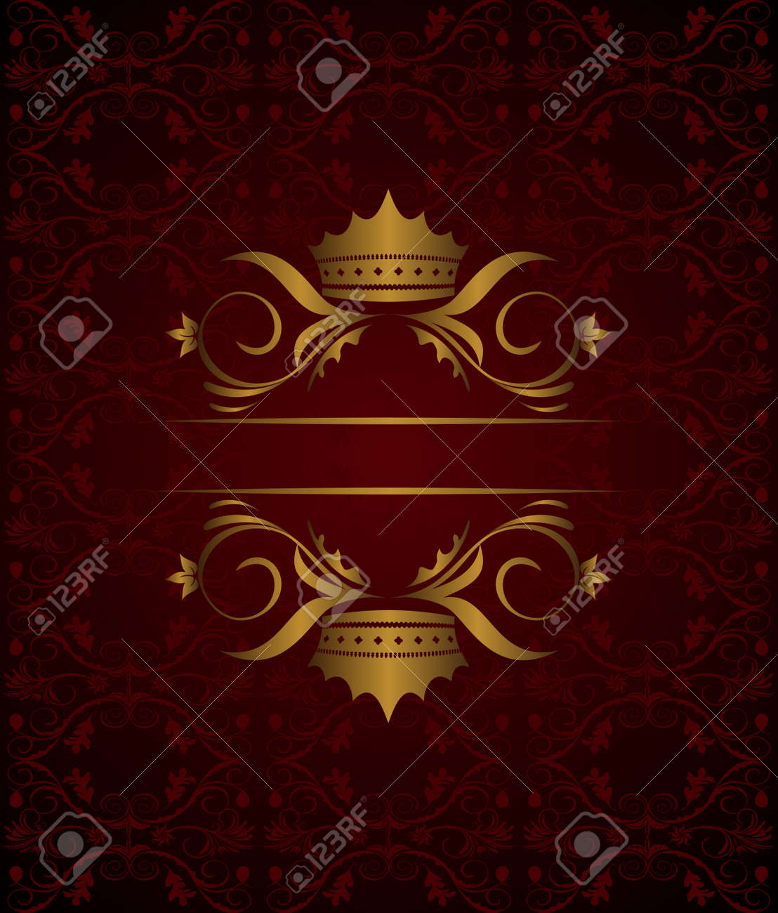 Illustration vintage background with crown Stock Vector - 8290258