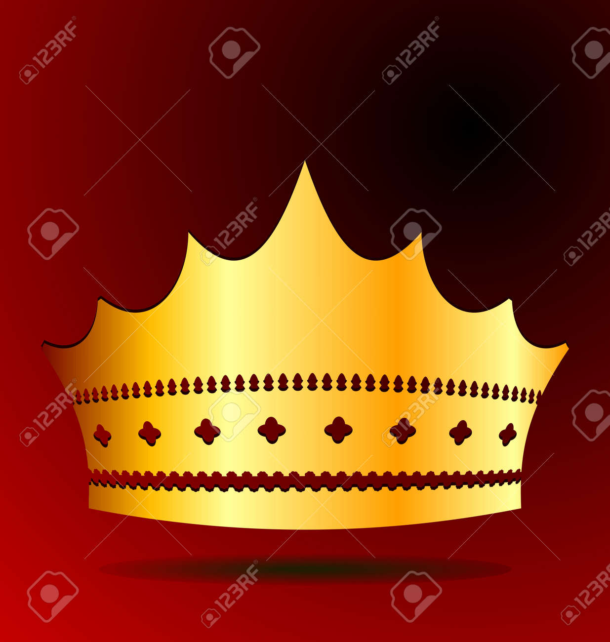 Illustration the gold royal crown for jewel design Stock Vector - 8290057