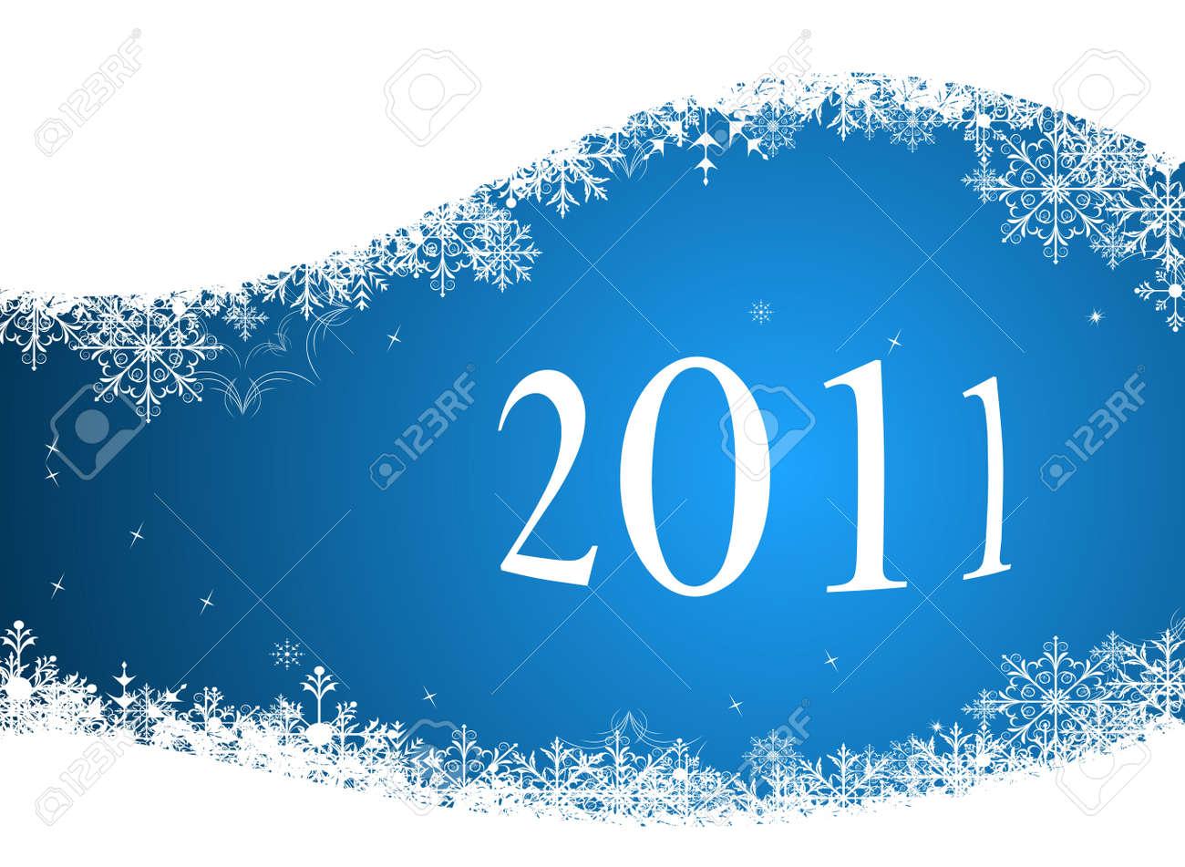 Illustration of winter background 2011 - 8290286
