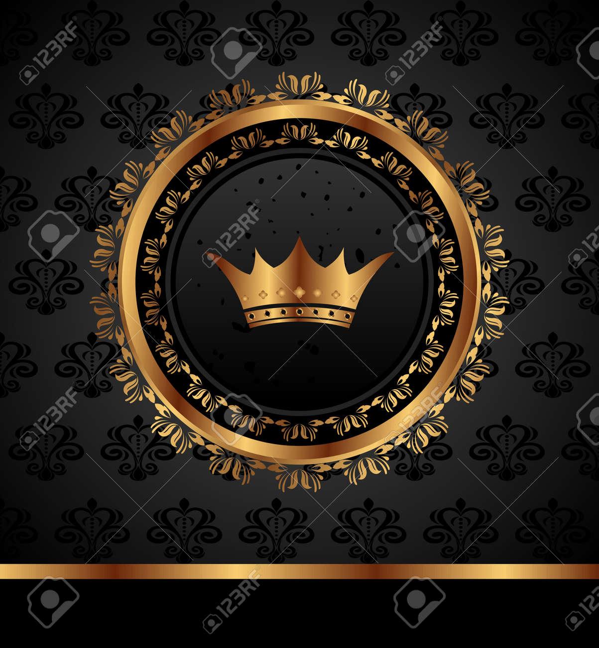 Illustration royal background with golden frame Stock Illustration - 10508823