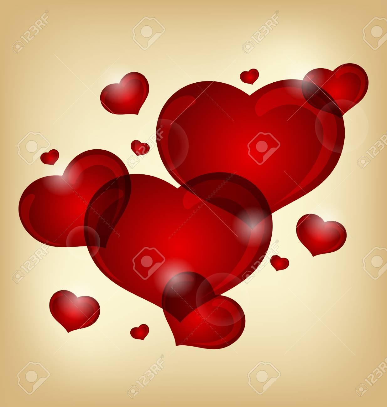 Illustration set of valentine hearts - vector Stock Illustration - 11781404