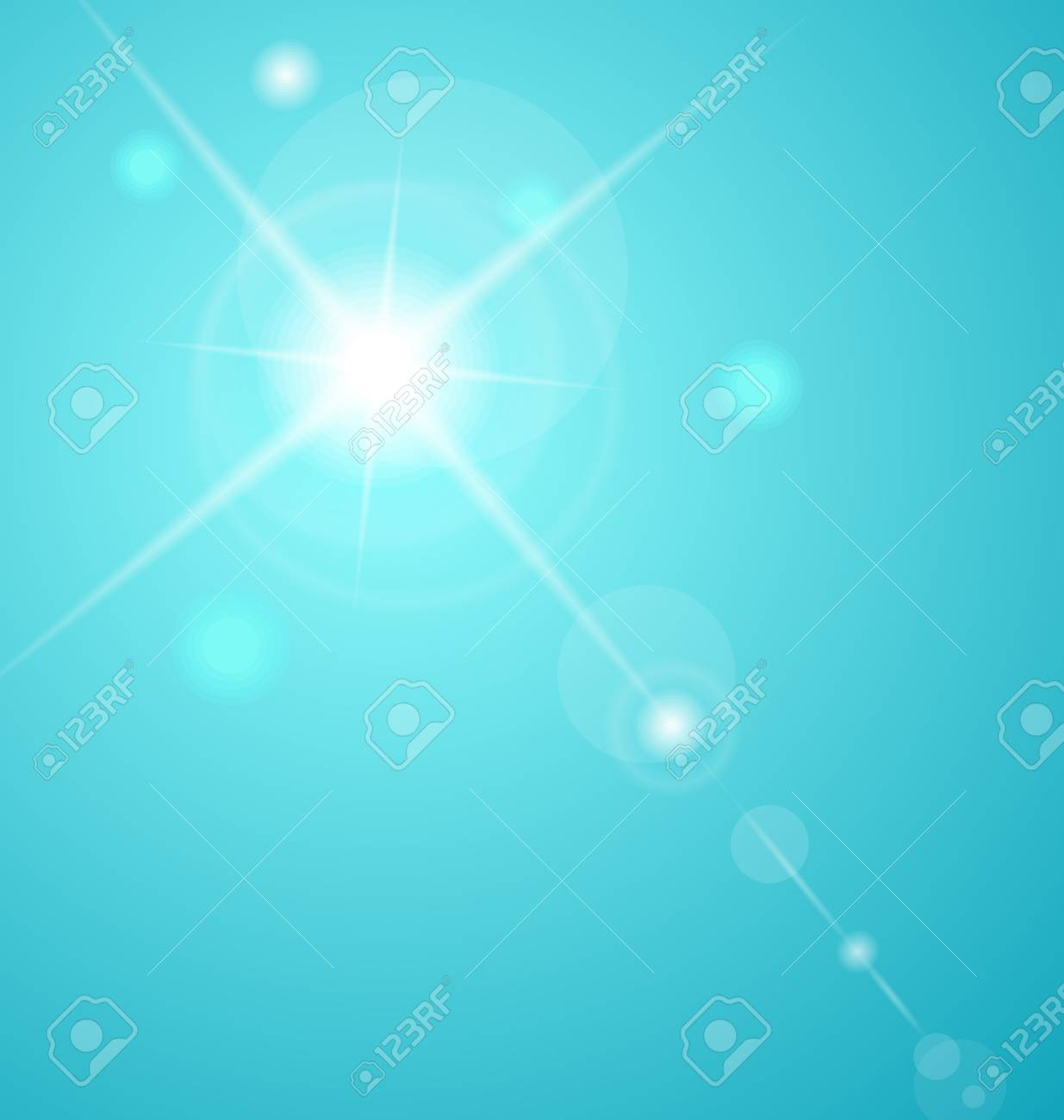 Illustration abstract star with lenses flare - vector Stock Photo - 12710093